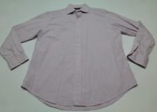 Polo Ralph Lauren Mens Size 17 34/35 Pink & Blue Regent Custom Fit Dress Shirt