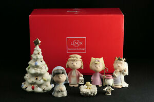 LENOX The CHRISTMAS PAGEANT Nativity Set / Snoopy Peanuts - Box & COA