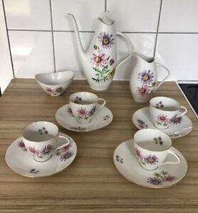 China Tea Set teapot*Jug*Sugar Bowl*C &S 1930's Victoria Czechoslovakia 11 Piece