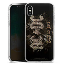 Apple iPhone X Silikon Hülle Case - ACDC Rock or Bust