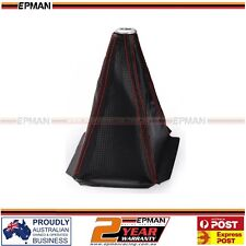 EPMAN Gear Shifter Boot Cover Black Carbon Fiber Skyline WRX EVO RED Stitch