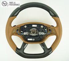 LE TEF® Carbon Leder Lenkrad BEIGE für Mercedes Benz W216 W221 AMG Schaltwippen
