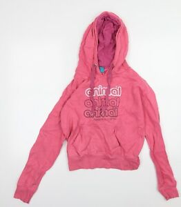 Animal Womens Pink  Jersey Pullover Hoodie Size S