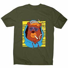 Hip Hop Oso-Gracioso Camiseta Hombre