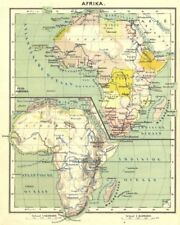 AFRICA. Afrika; Inset map of Indische Oceaan 1922 old vintage plan chart