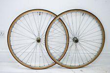 1980s MAVIC MA2 RIMS/ SHIMANO 105 VINTAGE BICYCLE WHEELSET, 700C