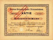BOGESTRA Bochum - Gelsenkirchen Straßenbahn Berlin historische Aktie 1900 Tram