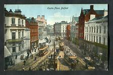 C1910 View: Trams, People, Shop Fronts, Castle Place, Belfast