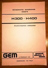 Original Gem H300 - H400  Electronic Organs Schematic Diagrams  Generalmusic