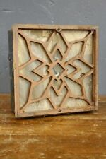 Antique cast iron victorian heat floor vent register grate Christmas Snow flake