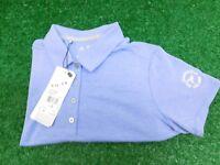Under Armour Womens Heather Polo Golf Shirt Orange Large CC Logo New NWT