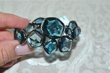 NWT $9000 IPPOLITA Wicked London Blue Topaz Diamond Rhodium Hero Bangle Bracelet
