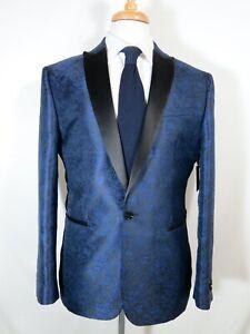 NWT Express slim tuxedo jacket, 40R, Paisley Jacquard, new $248
