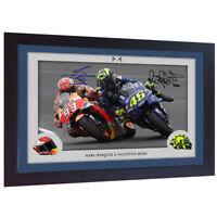 Valentino Rossi Superbikes autograph print signed photo VALENTINO ROSSI FRAMED
