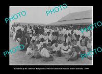 OLD POSTCARD SIZE PHOTO OF THE KILLALPANINNA ABORIGINAL MISSION STATION c1890