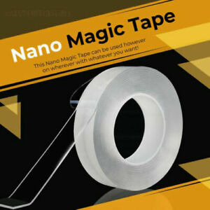 5M Nano Magic Clear Double Sided Grip Tape Traceless Removable Washable Adhesive