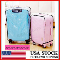 """Waterproof Clear Transparent Luggage Suitcase Cover Case Protector Travel 20-28"""""""