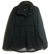James Darby Sz M Pull Overhead Anorak Parka Top Navy Athleisure Sports Jogging