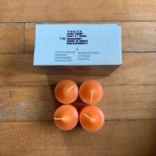 New ListingPartylite Orange Sherbert Scented Votive Candles Box Of 4