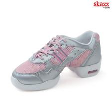 Pink and White Sansha Flight P21 split sole dance sneaker - Size UK 2