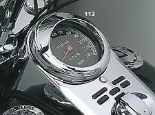 Harley Softail/Dyna/Road King/Softail Cromado Speedo Recortar/Visera: Kuryakyn