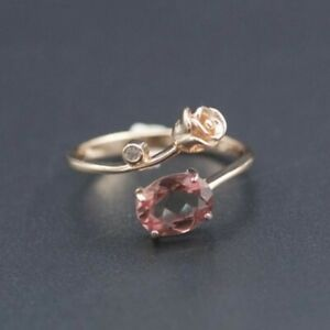 Romantic Rose Gemstone Color Changing Ring - Adjustable Size