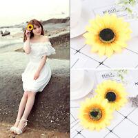2Pcs Women New Bridal Wedding Party Hair Clip Bridesmaid Sunflower Hairpin Gift