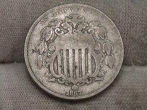 1867 US 5¢ Cent Shield Nickel. #14