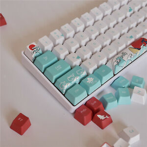 71 Keys Coral Sea Ukiyo-e DYE-SUB PBT Keycaps Set for Cherry MX Keyboards