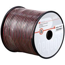 100 m Lautsprecherkabel 99,9% Kupfer Zwillingslitze Rot/Schw 2x0,75 mm² OFC 6061