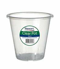 2x Stewart Garden Plastic Plant Pot Clear Orchid Planter - 18.5cm