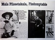 Maya Plissetskaya => 3 pages 1979 vintage French clipping !