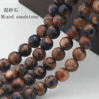 """Natural Mixed sandstone Gemstone Round Spacer Loose Beads 15"""" 4-12mm"""