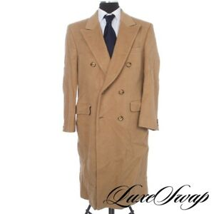 #1 MENSWEAR Burberry London 100% PURE Camel Hair HEAVY Top Winter Great Coat NR