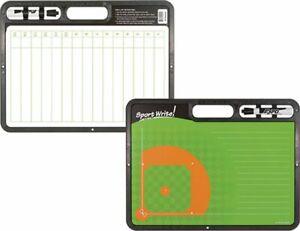 """Sport Write Pro Diamond Baseball Softball Coaching Board Dry Erase 16.5"""" x 12.5"""""""
