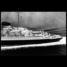 Photo B.003207 SS NORMANDIE CGT FRENCH LINE 1935 PAQUEBOT OCEAN LINER