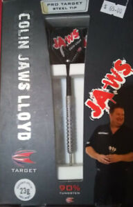 COLIN LLOYD (JAWS) TARGET STEEL TIP DARTS 90% TUNGSTEN 23 GRAM