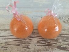 LOT of 2 orange Stress Relief Bath Bomb Bombs sinus congestion Allergy Relief