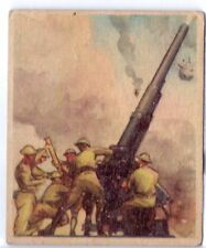 Anti-Aircraft Gun 1938 Goudey Action Gum #39 - WW2 War Card
