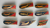 Soviet Russian 9 pins badges - VINTAGE AIRCRAFT, Aviation WWII