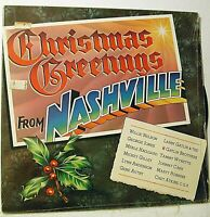 CHRISTMAS GREETINGS FROM NASHVILLE (VARIOUS ARTISTS) NM- Vinyl LP