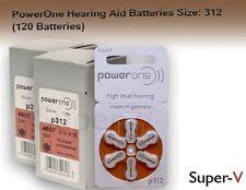 PowerOne Hearing Aid Batteries PR41, p312, SIZE 312 (120 Batteries)