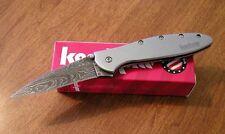 KERSHAW New Ken Onion Design Leek Plain Edge Damascus Blade Knife/Knives