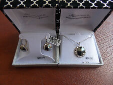 EAR RINGS AND NECKLESS WITH SWAROVSKI ELEMENTS BY J LLUMINAIRE