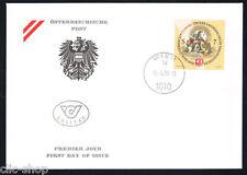 AUSTRIA 1 BUSTA PRIMO GIORNO FDC MUSEO 1998