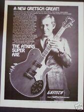 1977 Chet Atkins photo GRETSCH Super Axe Guitar ad