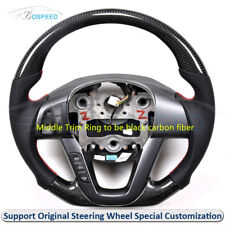 Carbon Fiber + Leather  Customized 4-Spoke Steering Wheel for Kia Optima K5 2012