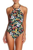 Nanette Lepore Womens Amor Atitlan One Piece Swimsuit Fruit High Neck Sz Small S