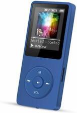 AGPTEK MP3 Player 8 GB 70 Stunden Wiedergabezeit OTG Funktion FM Radio Blau