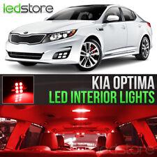 Red LED Lights Interior Kit Package Bulbs For 2011-2018 Kia Optima